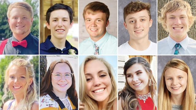 A collage of 8 headshots of North Iowa homecoming royalty candidates.