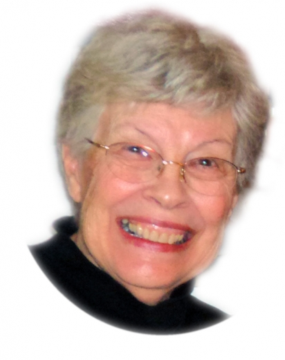 A cutout headshot of Maryann, smiling widely.